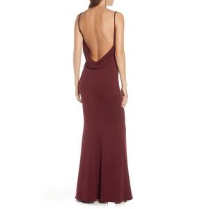 KATIE MAY The Gina Backless Trumpet Gown LG NWT